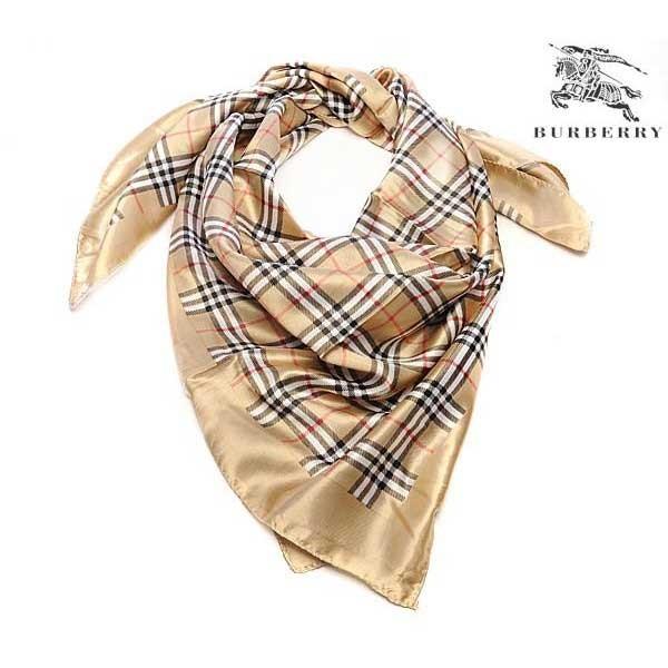 Burberry silk gold square scarf