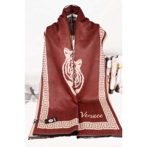 Versace cashmere scarf brown