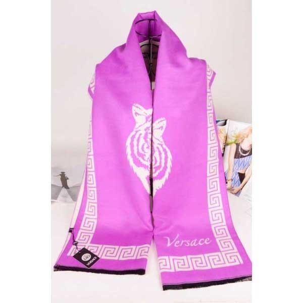 Versace cashmere pink color scarf