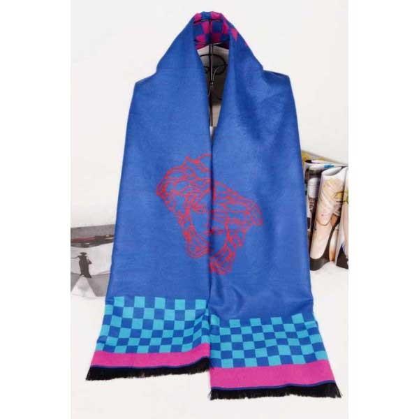 Versace wool blue color scarf