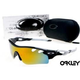 oakley radarlock path sunglasses in black and white and fire iridium for sale