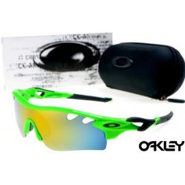 oakley radarlock path sunglasses in island green and fire iridium
