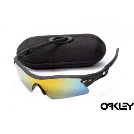 oakley radar path sunglasses in matte black and fire iridium