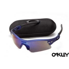 oakley radar path sunglasses in matte blue and blue iridium