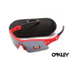 oakley radar path sunglasses in matte red and black iridium