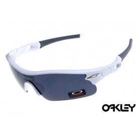 oakley radar pitch sunglasses in white and black iridium