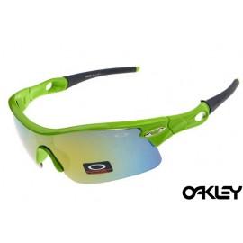 oakley radar pitch sunglasses in island green and ice iridium