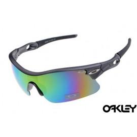 oakley radar pitch sunglasses in matte grey and fire iridium