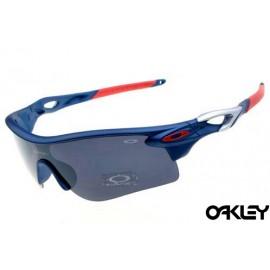 oakley radarlock sunglasses in yankees blue and black iridium for sale