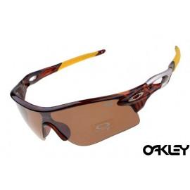 oakley radarlock sunglasses in tortoise and persimmon