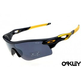 oakley radarlock sunglasses in matte black and grey iridium