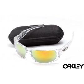 Oakley c six sunglasses in clear and fire iridium