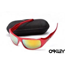 Oakley c six sunglasses in red metallic and fire iridium