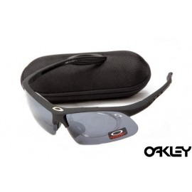 Oakley double lens sunglasses in matte black and clear iridium sale