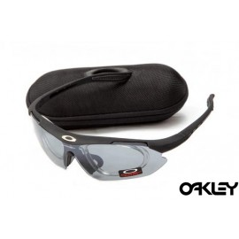 Oakley double lens sunglasses in matte black and clear