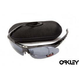 Oakley double lens sunglasses in polished black and clear black iridium wholesale