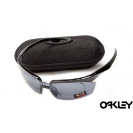 Oakley double lens sunglasses in polished black and clear black iridium online wholesale