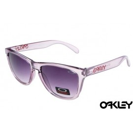 Oakley frogskins sunglasses in amethyst iridescent and black violet gradient