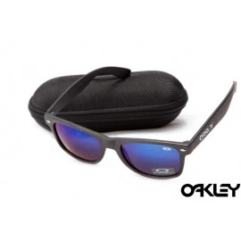 Oakley frogskins sunglasses in matte black and blue iridium