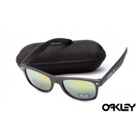 Oakley frogskins sunglasses in matte black and emerald iridium
