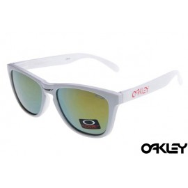 Oakley frogskins sunglasses in white and fire iridium