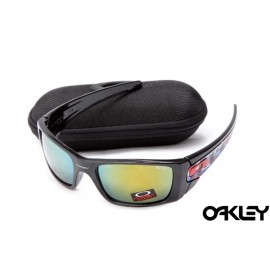 Oakley fuel cell sunglasses in polished black and fire iridium for sale