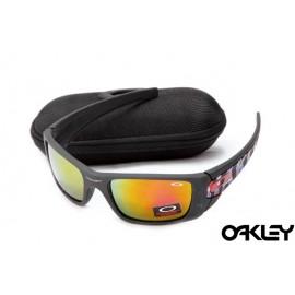 Oakley fuel cell sunglasses in matte black and fire iridium sale