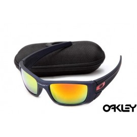 Oakley fuel cell sunglasses in matte blue and fire iridium