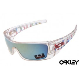 Oakley fuel cell sunglasses in crystal and emerald iridium