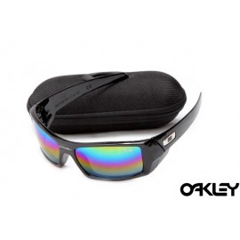 Oakley gascan sunglasses in polished black and fire iridium