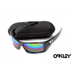 Oakley gascan sunglasses in polished black and fire iridium for usa