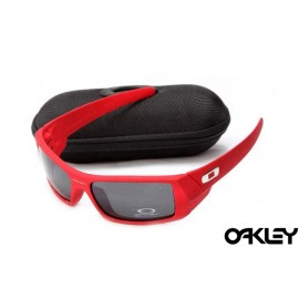 Oakley gascan sunglasses in red and black iridium