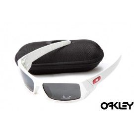 Oakley gascan sunglasses in white and black iridium