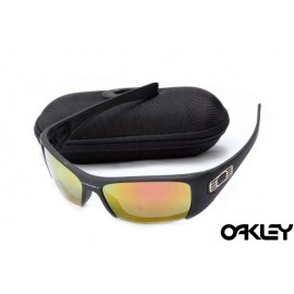 Oakley hijinx sunglasses in matte black and fire iridium for sale