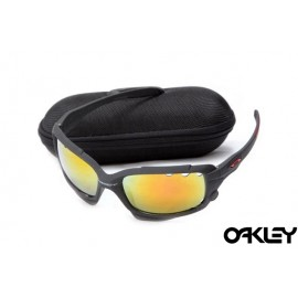 Oakley jawbone sunglasses in matte black and fire iridium