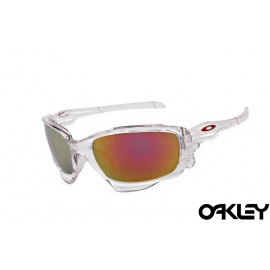Oakley jawbone sunglasses in clear and fire iridium