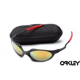 Oakley juliet sunglasses in matte black and fire iridium online