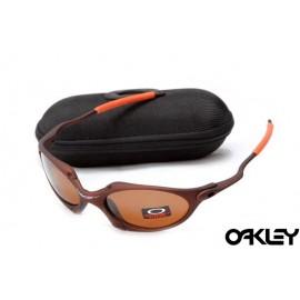Oakley juliet sunglasses in dark brown and VR28