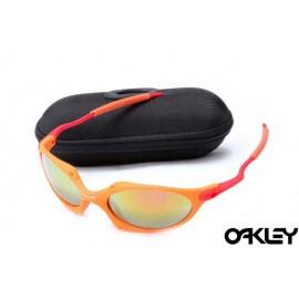 Oakley juliet sunglasses in orange flare and fire iridium
