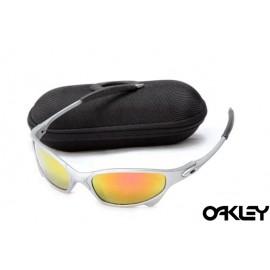 Oakley juliet sunglasses in silver streak and fire iridium