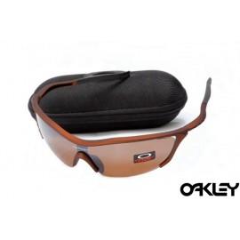 Oakley m frame sunglasses in matte dark brown and VR28 iridium for sale