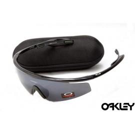 Oakley m frame sunglasses in polished black and black iridium online sale