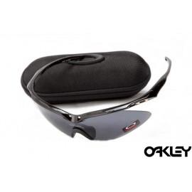 Oakley m frame sunglasses in polished black and black iridium online