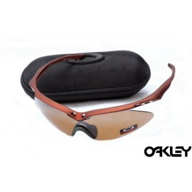 Oakley m frame sunglasses in brown and VR28