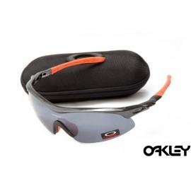 Oakley m frame sunglasses in black and orange and black iridium