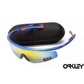 Oakley m frame sunglasses in brilliant blue and fire iridium
