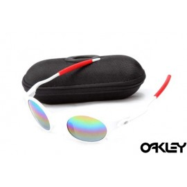Oakley mars matte white and colorful iridium