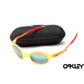 Oakley mars matte yellow and colorful iridium