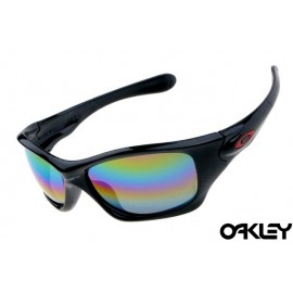 Oakley pit bull sunglasses in polished black and colorful iridium