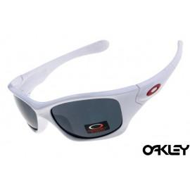 Oakley pit bull sunglasses in white and black iridium